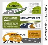 highway service or road travel... | Shutterstock .eps vector #618285047