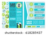earth day brochure template.... | Shutterstock .eps vector #618285437