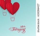 cut paper red valentine hearts... | Shutterstock . vector #618286427