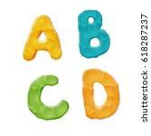 plasticine a  b  c  d letters... | Shutterstock .eps vector #618287237