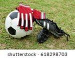 Football Equipment On Football...