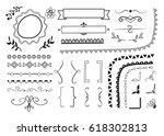 big set of decorative elements  ... | Shutterstock .eps vector #618302813