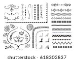 big set of decorative elements  ... | Shutterstock .eps vector #618302837