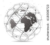 global network connection.... | Shutterstock .eps vector #618308723