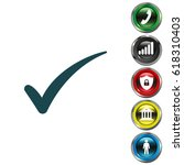 check mark symbol  vector | Shutterstock .eps vector #618310403