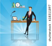 business characters.... | Shutterstock .eps vector #618311897