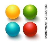 glossy spheres  buttons set on... | Shutterstock .eps vector #618320783