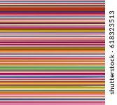 retro colors horizontal striped ... | Shutterstock .eps vector #618323513