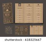 template of folding triple menu ...   Shutterstock .eps vector #618325667