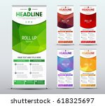 design roll up banner standard... | Shutterstock .eps vector #618325697