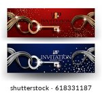 vip horizontal invitation... | Shutterstock .eps vector #618331187