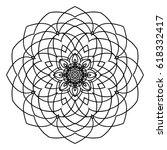 mandala. floral  flower...   Shutterstock .eps vector #618332417