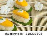 yellow mango put on white... | Shutterstock . vector #618333803