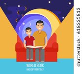 world book and copyright day....   Shutterstock .eps vector #618335813