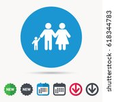 family icon. father  mother and ...   Shutterstock .eps vector #618344783