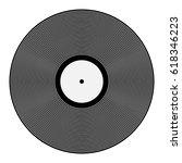 vector retro gray vinyl record... | Shutterstock .eps vector #618346223
