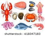 Various Seafood Set....