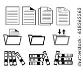 set of document icon vector... | Shutterstock .eps vector #618363263