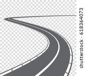 winding abstract asphalt... | Shutterstock .eps vector #618364073