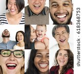 set of diversity people... | Shutterstock . vector #618368753