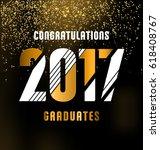 2017 graduates design | Shutterstock .eps vector #618408767