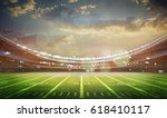 american football stadium 3d. | Shutterstock . vector #618410117