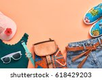 fashion design woman clothes... | Shutterstock . vector #618429203