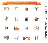 business training icon set | Shutterstock .eps vector #618430247