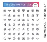 set of 56 usa independence day... | Shutterstock .eps vector #618440057