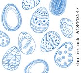 easter pattern eggs | Shutterstock .eps vector #618448547