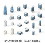 collection of realistic... | Shutterstock .eps vector #618458063