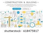 elegant thin line flat modern... | Shutterstock . vector #618475817