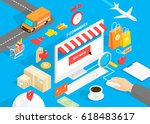 flat 3d isometric style design...   Shutterstock .eps vector #618483617