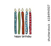 happy birthday card. | Shutterstock .eps vector #618494507