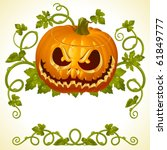 pumpkin jack vintage pattern | Shutterstock .eps vector #61849777
