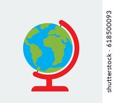globe icon  globe vector on...   Shutterstock .eps vector #618500093