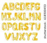 english alphabet. letters. | Shutterstock .eps vector #618500453