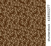 seamless pattern of coffe in... | Shutterstock .eps vector #618502277