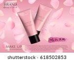modern vip cosmetic ads  make...   Shutterstock .eps vector #618502853