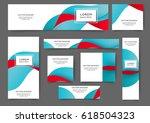 set of web banner templates for ...   Shutterstock .eps vector #618504323