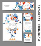 set of promotional flyers with... | Shutterstock .eps vector #618504353
