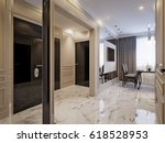 modern classic kitchen interior ... | Shutterstock . vector #618528953