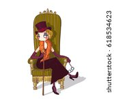 cute cartoon circus ring master ...   Shutterstock .eps vector #618534623