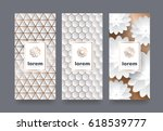 vector set packaging templates... | Shutterstock .eps vector #618539777