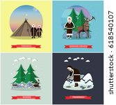 vector set of wild north... | Shutterstock .eps vector #618540107