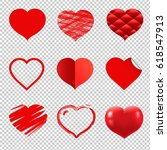 hearts set  vector illustration | Shutterstock .eps vector #618547913