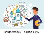 concept of start up.... | Shutterstock .eps vector #618551147