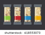 set of vector granola bars in... | Shutterstock .eps vector #618553073