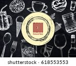 restaurant menu design. vector... | Shutterstock .eps vector #618553553