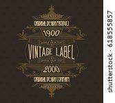 vintage typographic label... | Shutterstock .eps vector #618555857